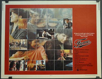 FAME  1980 ORIGINAL 22X28 MOVIE POSTER IRENE CARA EDDIE BARTH LEE CURRERI