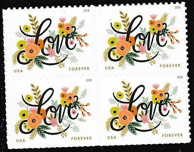 US 5255 Love Flourishes forever block MNH 2018
