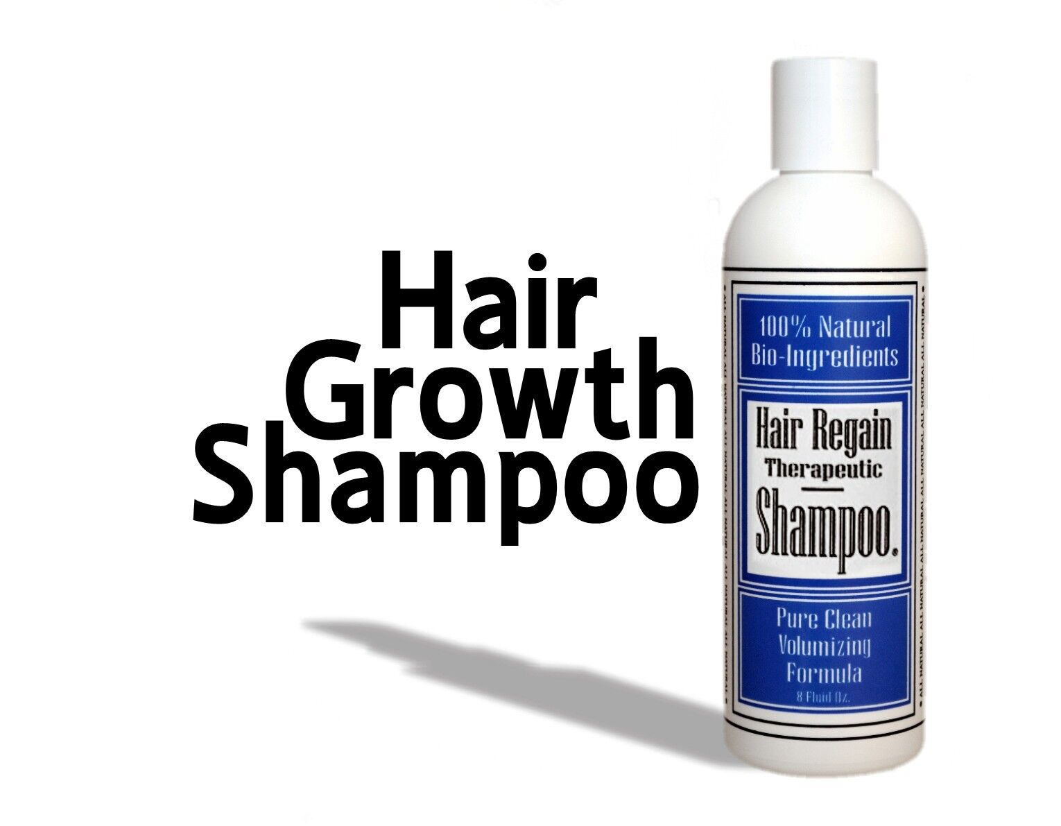 Regain Hair Loss Shampoo Fast Growth Male Pattern Receding Hairline Balding Cure