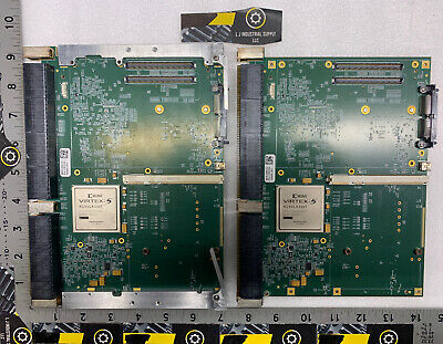 Lot Of 2 0rk79 Pwb 1169253 Rev. 4 Boards W X2virtex-5 Chips Fast Shipping
