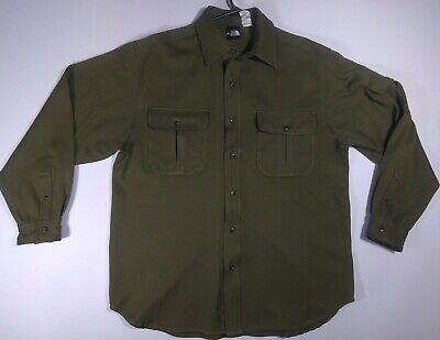 The North Face Men's Medium Button Down Dark Green Long Sleeve Shirt