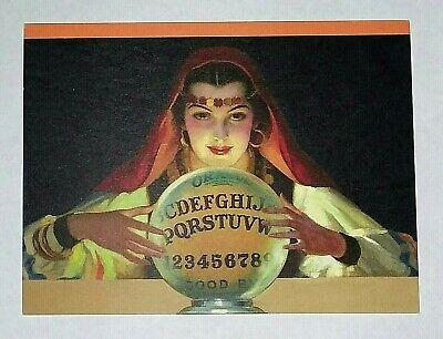 *UNUSED* Halloween Postcard: Fortune Teller Vintage Image, Ouija~Reproduction