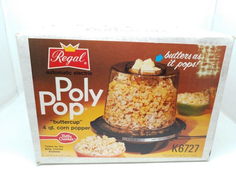 NEW Regal Ware Poly-Pop Electric 4 QT Pop Corn Popper Buttercup UNOPENED BOX