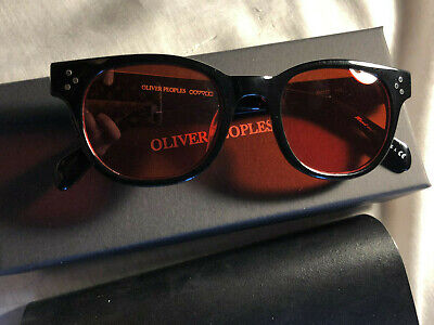 New Oliver Peoples OV5236A AFTON Black/Red 49-22 Sunglasses (Oliver People Afton)