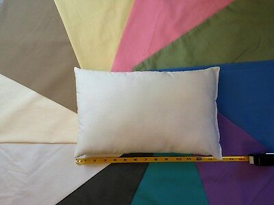 White small TRAVEL PILLOW 3 pc set -- 2 Cream small Pillow C