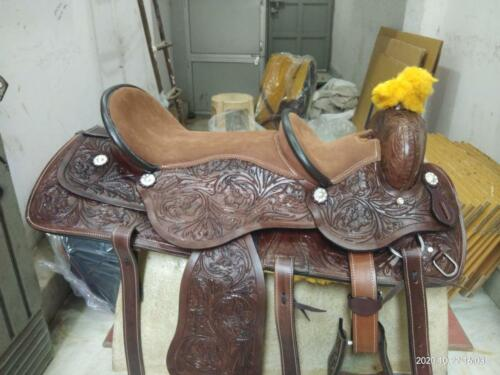 Double Seat Western Horse Saddle 16 inch and 10 inch and 16 inch and 12 inch