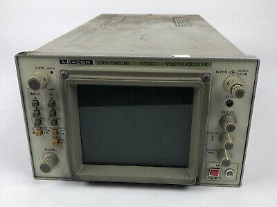 Leader Lvs-5850b Ntsc Vectorscope For Parts Or Repair - Free Shipping Via Fedex