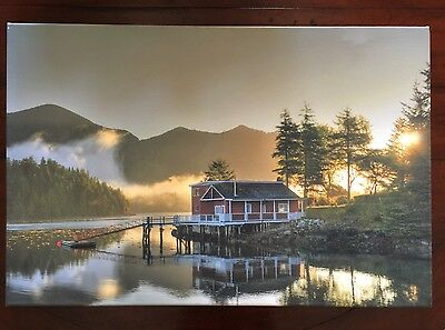 """Dawn at the Crab Cannery"" Photograph Printed on Canvas 20"" x 30"" Signed 3/167"