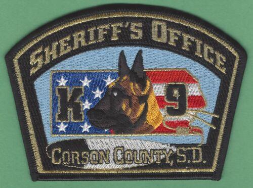 CORSON COUNTY SHERIFF SOUTH DAKOTA POLICE K-9 UNIT SHOULDER PATCH