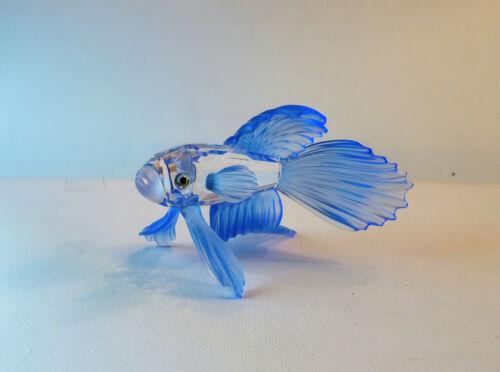 SWAROVSKI Blue Siamese Fighting Fish 236718 ~ Mint in Box w/COA