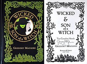 Gregory Maguire~SIGNED~Wicked & Son of a Witch~1st Edition HC Ltd Ed + Photo++