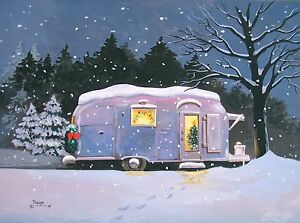 Vintage-Airstream-Christmas-Travel-Trailer-Camper-ART