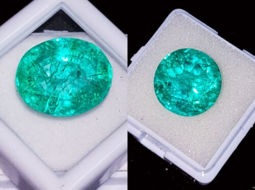 Certified Loose Gemstones Natural Emeralds 8 to 10 Cts 2 Pcs RK48