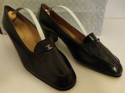 VINTAGE Gucci Black Leather Shoes