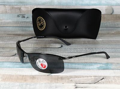 RayBan RB3183-002/81 BLACK grey Polarized 63 mm Men's (Rb3183 Polarized)