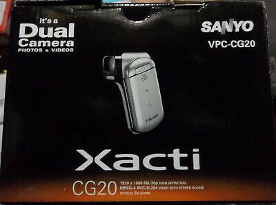 Sanyo Xacti VPC-CG20R Digital Camcorder 1080p 5x Optical Dual Range Zoom HD NEW, used for sale  Shipping to South Africa