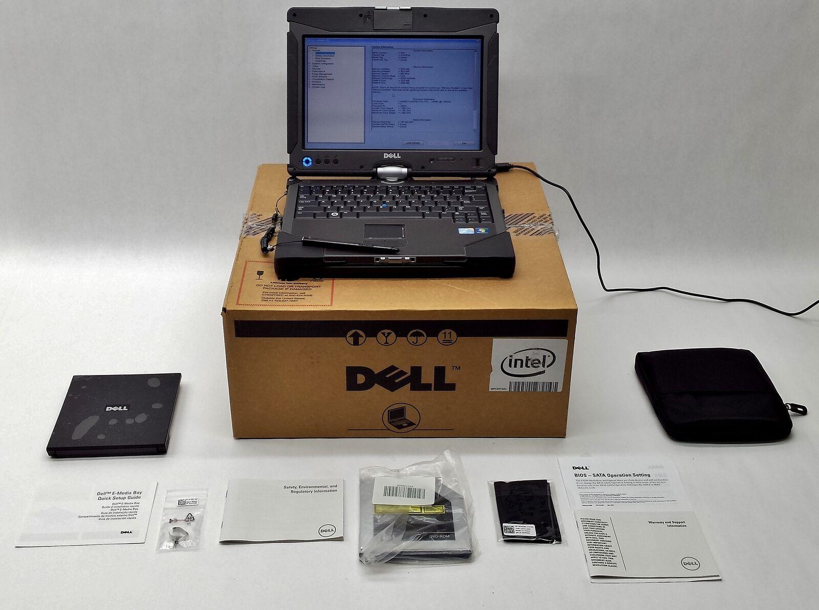 "Dell Latitude XT2 XFR 12"" CORE 2 DUO U9600 1.60GHz 3GB 128GB SSD LAPTOP TABLET"
