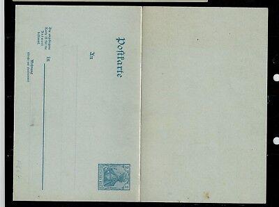 Deutsches Reich Postkarte P 66 Frage und Antwortteil ungebraucht -int.Nr.116