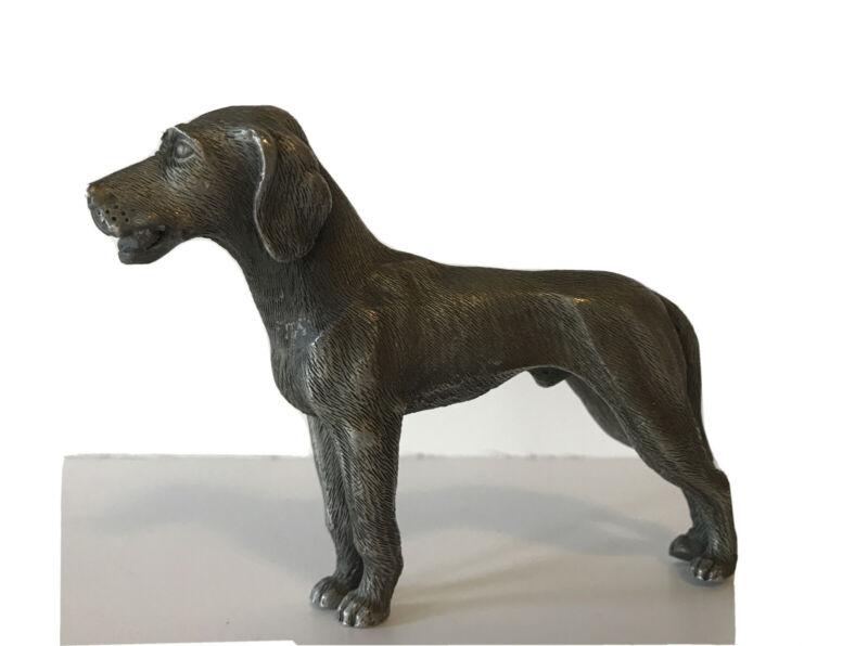 Vintage English POINTER Dog Figurine Pewter/Lead Metal Miniature Hunting Figure