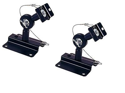 2-Pack Heavy Duty Speaker Wall Ceiling Mount Brackets Surround Sound Black (New)