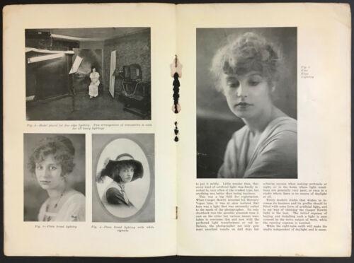 1920s Cooper Hewitt Photographic Photogaphy Studio Camera Lighting Brochure