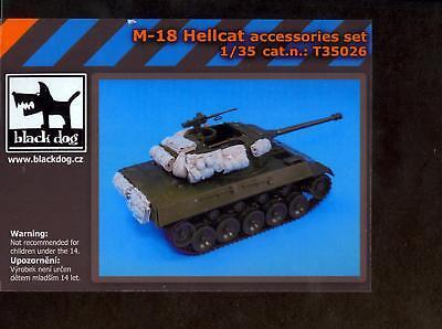Blackdog Models 1/35 M18 HELLCAT TANK DESTROYER ACCESSORIES SET Resin Set