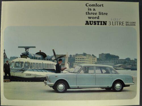 1970 Austin 3-Litre Saloon Catalog Sales Brochure Sedan Excellent Original 70