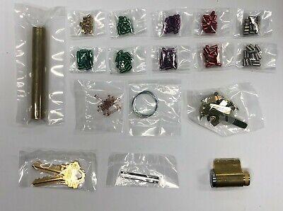 Schlage Pinning Kit Locksmith 15 Bottom Pins Each 2 - Sc1 Keys 1 - Cylinder