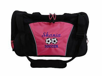 Personalized Soccer Balls (Personalized Duffel Bag Large DUO SOCCER BALLS Sports Team Travel Coach Gift)