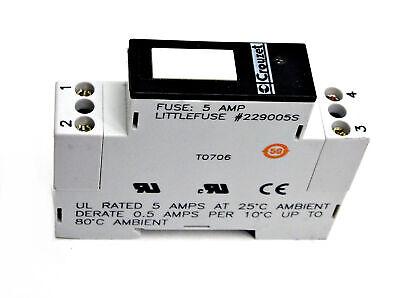 New Crouzet Gms-oac Relay Module 5amp 12280vac 5060hz 432vdc Regulated Input
