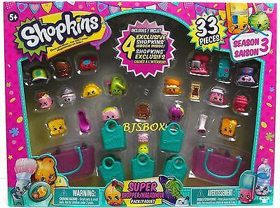 Shopkins Season 3 Super Shopper Pack 33 Pieces 4 Exclusive Cookie Phone New