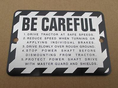 Be Careful Caution Plate For John Deere Jd 50 520 60 620 70 720 80 820 A An Aw B