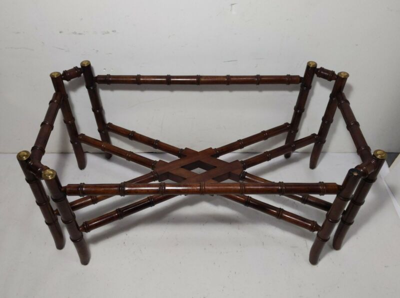 NO TOP: Vintage Baker Hollywood Regency Chinoiserie Faux Bamboo Coffee Table