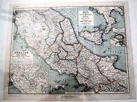 Rara Mappa Autentica Del 1892 -italiae Pars Media -italia Inferiror Cum Sicilia -  - ebay.it