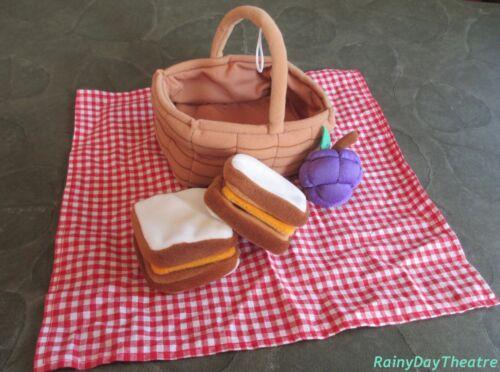 Build A Bear PICNIC SET Basket Sandwiches Accessories Vintage