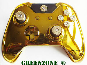 Xbox One Gold Controller Shell Mod Kit with Full Bullet ...