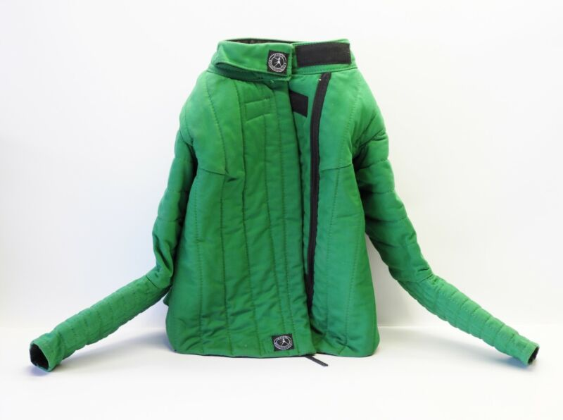SPES Historical Fencing Gear, Jacket, Green, Size 6 New Without Tags