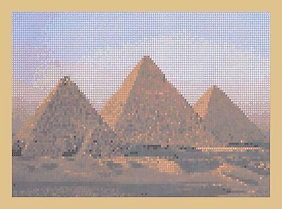 Pyramids at Gisa Counted Cross Stitch Kit