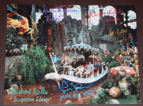 "11"" X 14"" WILLY WONKA BOAT SCENE AUTOGRAPHED (SIGNED) BY FIVE + BONUSES!!"