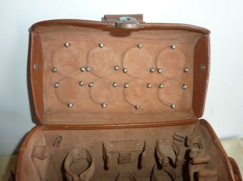 """Antique/Vintage Omnica 1 Case Camera  Beautiful all Leather 50"""""""
