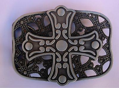 NEW CELTIC CROSS IRISH AND SHIELD BELT BUCKLE Cross Shield Belt Buckle