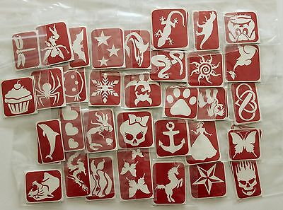 (Maybel's Glitter Tattoo Stencils - 150 stencil Pack - You choose the designs)