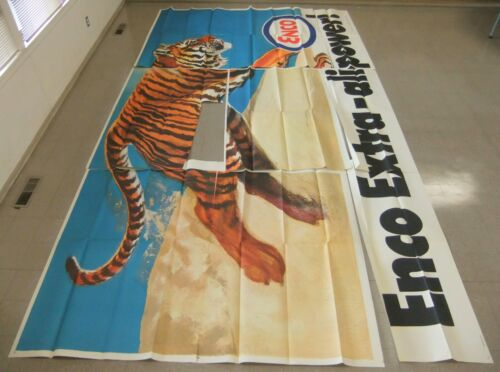 1969 Humble Oil Co ENCO Running Tiger Alive w/ Power Partial Billboard 22