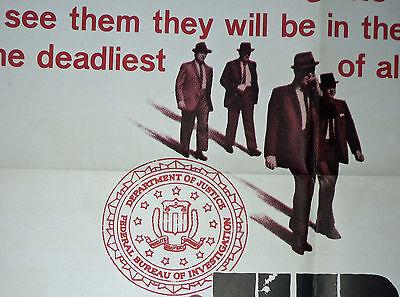 FBI CODE 98 original 1964 27x41 one sheet movie poster RAY DANTON/J.EDGAR HOOVER