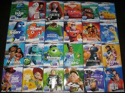 CHOOSE: NEW DISNEY PIXAR 2019 BLU-RAY SLIPCOVER ONLY - NO MOVIE - FREE SHIPPING