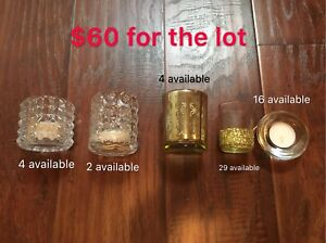 Wedding items and vases