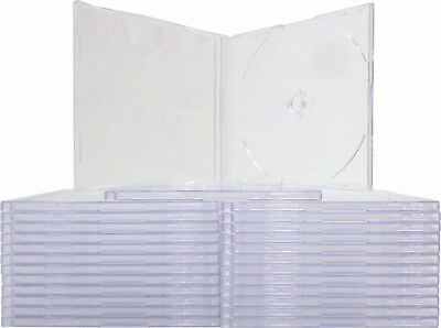 25 Cdbs07cl Clear 7mm Cd Data Disc Jewel Cases Boxes Single Slim Thin Skinny