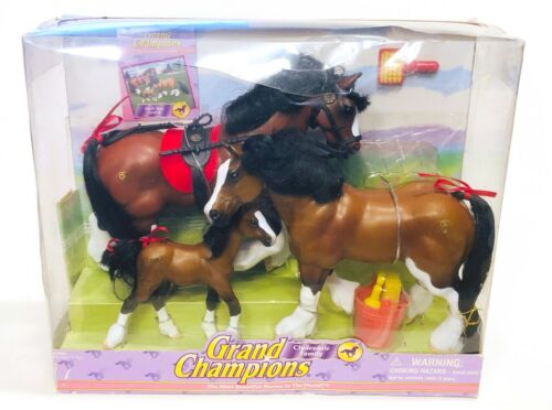 Grand Champions Marchon horses Dark Bay Clydesdale Family NEW IN BOX