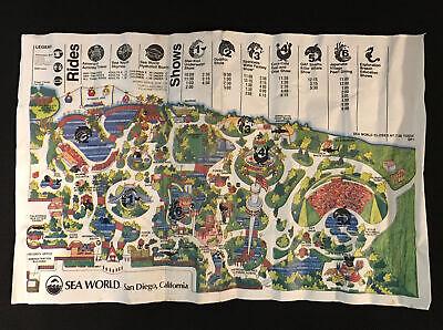 VINTAGE! SeaWorld San Diego, CA Park Visitor's Guide Map Brochure