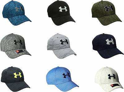 Under Armour Men's Printed Blitzing Stretch Fit Cap, 9 (Fitted Print Cap)